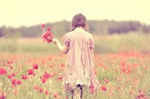 recoger flores